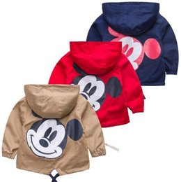Retail Boys Jackets UK - Retail!2017 children jacket coat,boy and girls spring autumn cartoon stripe pure cotton coat,girls clothes,free shipping