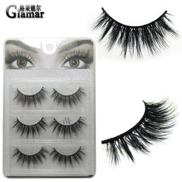 63b04c4d7b3 3 pair set high-end full strip eyelashes 3D faux mink false lashes natural  long hand made synthetic hair makeup