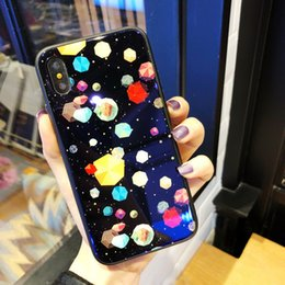 Fluorescence Glasses NZ - Phone case phone sets It;s Blue glass for iPhone Multiple colors Feel comfortable and non-slip