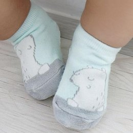 $enCountryForm.capitalKeyWord NZ - Cartoon Unisex Newborn Anti Slip Baby Girls  Boys Cotton Toddler Boat Socks Spring Fall Socks