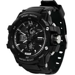Men Digital Wrist Watches Australia - SKMEI LED Wrist Watch Men Digital LED Outdoor Waterproof Dual Display Wristwatches Military Army Top Brand Luxury Watches 0990