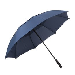 Golf sticks online shopping - TOMSHOO Inch Oversized Automatic Auto Open Golf Umbrella Double Canopy Ventilated Stick Outdoor Extra Large Umbrella