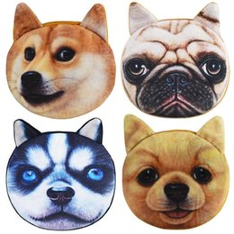 $enCountryForm.capitalKeyWord Australia - 3D Girl Wallet Bag Ladies Animal Zipper Mini cat coin purses dog children's purse plush bolsa de moeda coins pouch monedero gato