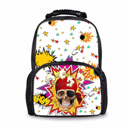 school bags for college students 2019 - Noisydesign Cute Skull Printed School Backpack for Small Skull Puzzled Backpacks Bookbag Travel Bag College Student Satc