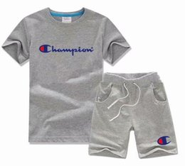 Ingrosso ragazzo bambini imposta bambini t-shirt e pantaloni bambini set di cotone baby ragazzi ragazze vestito estivo tuta sportiva 2 pezzi / set