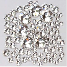 crystal rhinestones flatback for garment 2019 - 1pack Mix Sizes Glass Clear Crystal Non Hotfix Flatback Strass Rhinestones For Sewing Fabric Garment Nail Art Decoration