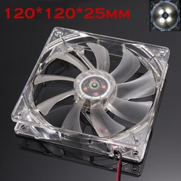 12v fan for cooling 2019 - Mokingtop White Cool Fan Quiet 12cm 120mm 120x120x25mm 12V Computer PC CPU Silent Cooling Case Fan For Radiator Mod#25 d