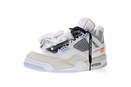 efe82cbd319c12 2018 Hot Sale Jumpman IV 4 Encore X White Grey Orange Mens Basketball Shoes  Best quality White Fashion Sports Trainers SIZE 40-47