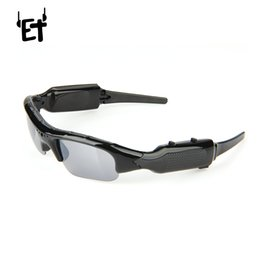 Sunglasses Audio UK - ET Sunglasses Camera HD Digital Audio Video Recorder Outdoor Sports Camera Support SD Card Sunglass Camcorder for PC Chat Camera