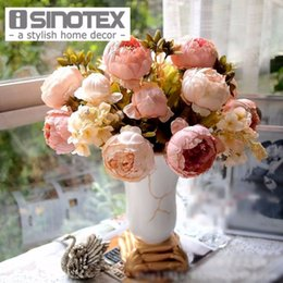$enCountryForm.capitalKeyWord Canada - Artificial Flowers For Decoration Peony Silk Decorative Flowers European Style Artificial Flower Wedding Decoration 1 Pcs