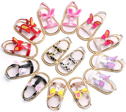 Baby Girl Cute Sandals Australia - 8 colors cute rabbit ears bow Baby Girls Sandals toddlers todderls summer soft sole shoes infants summer fashion first walkers cute 5 sizes
