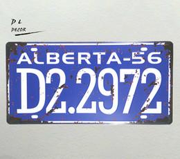 $enCountryForm.capitalKeyWord UK - DL-ALBERTA-56 D2.2972 License plate Metal Paintings Garage decoration Home Bar Vintage Metal Tin Signs