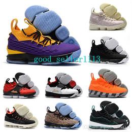 1e1a8d92e2d 2018 lebron 15 Lakers Bright Crimson Basketball Shoes lebrons 15s Griffey  Four Horsemen Red Diamond Turf Orange Box trainers sports Sneakers