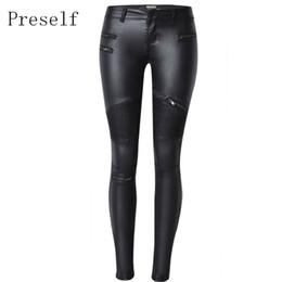 $enCountryForm.capitalKeyWord UK - New Sexy Faux Leather High Waist Skinny Pants Stretch Jeans Slim Pencil Trousers