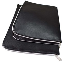 Leather fiLe foLders online shopping - Document Bag Waterproof PU Leather File Folder Pieces One Big And One Small cm And cm Office Supplies