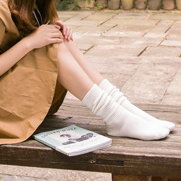 China Autumn and Winter Girls Leg Warmers Preppy Style Boot Socks Fashion Vertical Stripe Women Legging Socks Cotton High Quality supplier green white striped knee high socks suppliers