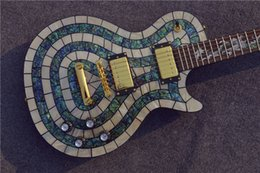 Wholesale Manufacturer direct selling Custom Shop abalone inlay Electric guitar with dragon Decor for neck Custom available
