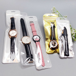 Plastic Packaging Straps Australia - Plastic Packaging Packing Bag Self Sealing Zipper Clear Watch Pouch Jewelry Watch Cosmetic Plastic Bags for Watch Strap
