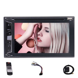 remote control car stereo Australia - Rear Camera 6.2'' Universal Double Stereo Car DVD Player FM AM BT AUX USB RDS + MAP CARD +Remote Control +Dual Card Slot