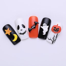 3d mold nails online shopping - 1 Pc D Silicone Mold Halloween Nail DIY Mold Template Pumpkin Bat Patterns Decoration Manicure D Nail Art Tool