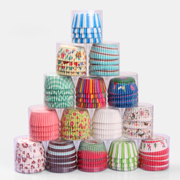 Cupcake Forms NZ - 100Pc Set Paper Cake Forms Cupcake Liner Baking Muffin Box Cup Case Party Tray Cake Mold Decorating Tools Muffin Cupcake Paper