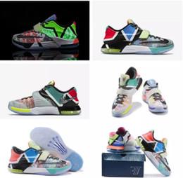 best sneakers 2efdc 63790 2018 Billig Verkauf Was die KD 7 Grau Männer Basketball-Schuhe für hohe  Qualität KD7 EP Männer Kevin Durant 7s VII Sport Turnschuhe Größe 7-12