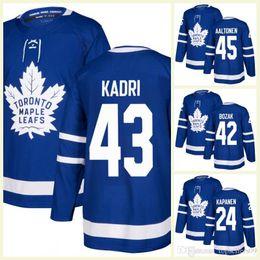 2018 Mens Toronto Maple Leafs Miro Aaltonen Nazem Kadri 28 Connor Brown 42  Bozak 24 Kasperi Kapanen van Riemsdyk Garret Sparks Hockey Jersey c7518534e