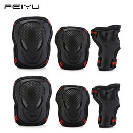 Skateboards Gear Australia - 6pcs set Elbow Knee Pads Wrist Protector Skating Protective Gear Sets skate Racing Cycling Skateboard Protect for adult kids