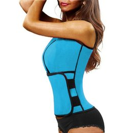 6a3cf2ab39 Sport Tank Tops Vest Neoprene Sauna Waist Trainer Vest Hot Shapers Summer  Shaperwear Slimming Adjustable Sweat Belt Body Shapers
