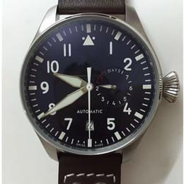Pilot watch dial online shopping - 2017 Top Quality Luxury Wristwatch Big Pilot Midnight Blue Dial Automatic Men s Watch MM Mens Watch Watches