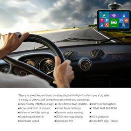 $enCountryForm.capitalKeyWord Australia - 2018 New HD 7 inch Car GPS Navigator Bluetooth AVIN FM 800*480 Touch Screen 800MHZ WinCE6.0 Newest 4GB IGO Primo Maps
