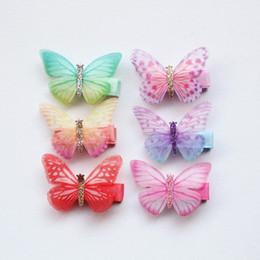 20pc lotto glitter principessa fata clip di capelli di alta qualità marca tornante ragazze capretto capelli Barrette carino 5 cm farfalla stile estivo