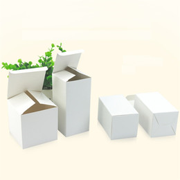 small paper gift boxes UK - 20 Size white packaging gift small cardboard boxes,square kraft paper cardboard packaging paper box Factory wholesale LZ0740