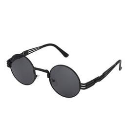d65f1bd79eb Round Sunglasses Women Fashion Brand Designer Steam Punk Sunglasses Men  Metal Frame Mirror Female Shades 2017 New Tops UV400