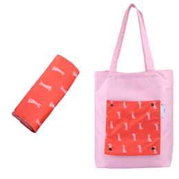 foldable bags totes wholesale UK - Large Capacity Grocery Storage Bags Woman Colorful Tote Bag Reusable Shopping Bag Durable Waterproof Foldable Shoulder Bags by DHL