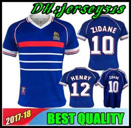 France Soccer Jerseys Canada - 1998 FRANCE RETRO VINTAGE soccer jerseys  ZIDANE HENRY MAILLOT DE FOOT 0ee740b0b