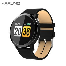 blue smart watch 2019 - KARUNO Q8 Smart Wristbands Watch LED Color Screen Smartwatch men Fashion Fitness Tracker Heart Rate Monitor discount blu