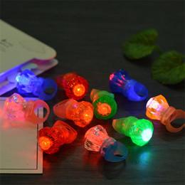 Large pLastic toy box online shopping - Large Diamond Ring Luminous LED Rings Emitting Products Flashing Light Ring Party Finger Lights Halloween Christmas cm W