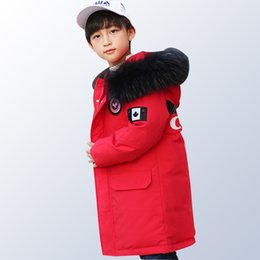 643ea90213a4 Boys Winter Jacket Parkas Duck Down Jacket Kids Thick Warm Big Bs Winter  Jackets with Fur Coats Teenage Boys Clothing 14 Year