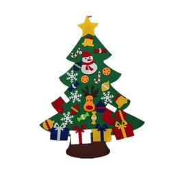 $enCountryForm.capitalKeyWord UK - Magic Felt Christmas Tree DIY Funny Puzzle Ornaments Wall Decor with Hanging Rope Decoration Toy for Christmas Festival Party