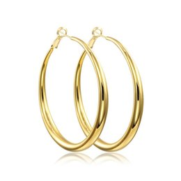 $enCountryForm.capitalKeyWord Canada - Wholesale- Yellow or Rose Gold Color Round Loop Big Large Circle Creole Hoop Earrings For Women Girls Fashion Jewelry Pendientes Aros Gift