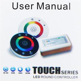 Wireless Touch Rgb Controller Australia - Round Touch RGB Controller DC12V 24V 18A 2.4G LED Controller 7 Keys RF Wireless Touch Panel LED RGB Remote Control Touch