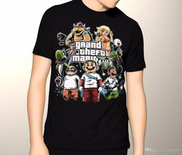 super mario clothing 2018 - Fashion 2018 SummerGrand Theft Mario T Shirt | Funny Joke | Kids - Mens 6XL | Super Mario Brothers Plus Size Casual Clot