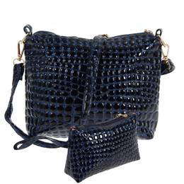 e193ad255310 2PCS Bag Set Women Messenger Bags Crocodile PU Leather Shoulder Bags Women  Clutch Composite Set Leather Handbags