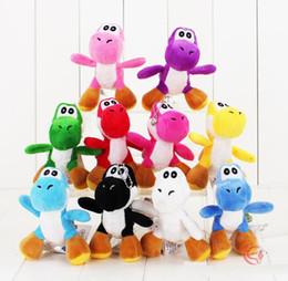 Discount mario free stuff toys - 2018 Free Shipping Super Mario Bros Yoshi Dinosaur Dragon Colorful Plush Toy Pendants with Keychains Stuffed Dolls