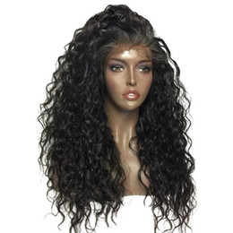 wave machine for hair Canada - 180% density deep wave curly human hair wigs for black women pre plucked 360 full lace wig for black women