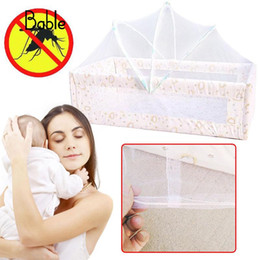 Discount toddler mosquito net - Baby Bed Tent Infant Canopy Folding Anti Mosquito Net Toddlers Cot Netting Mesh