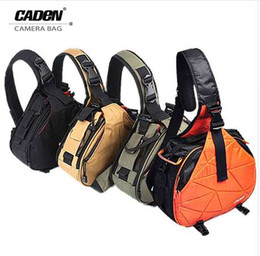 Discount smallest dslr - Caden Waterproof Travel Small DSLR Shoulder Camera Bag with Rain Cover Triangle Sling Bag for Sony Nikon Canon Digital C