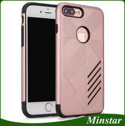 Cheap Iphone Cases Wholesale NZ - For iPhone X 8 Plus 7 6S Plastic TPU Hybrid Defender Caseology Phone Case Samsung Galaxy S9 Plus S8 Plus Cheap Rugged Protective Cover 50PCS