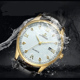 $enCountryForm.capitalKeyWord Australia - Hot sale new Luxury watch quartz Brands Belt Watch Diamond watch Upscale Business style Mens watches waterproof Watches free shipping